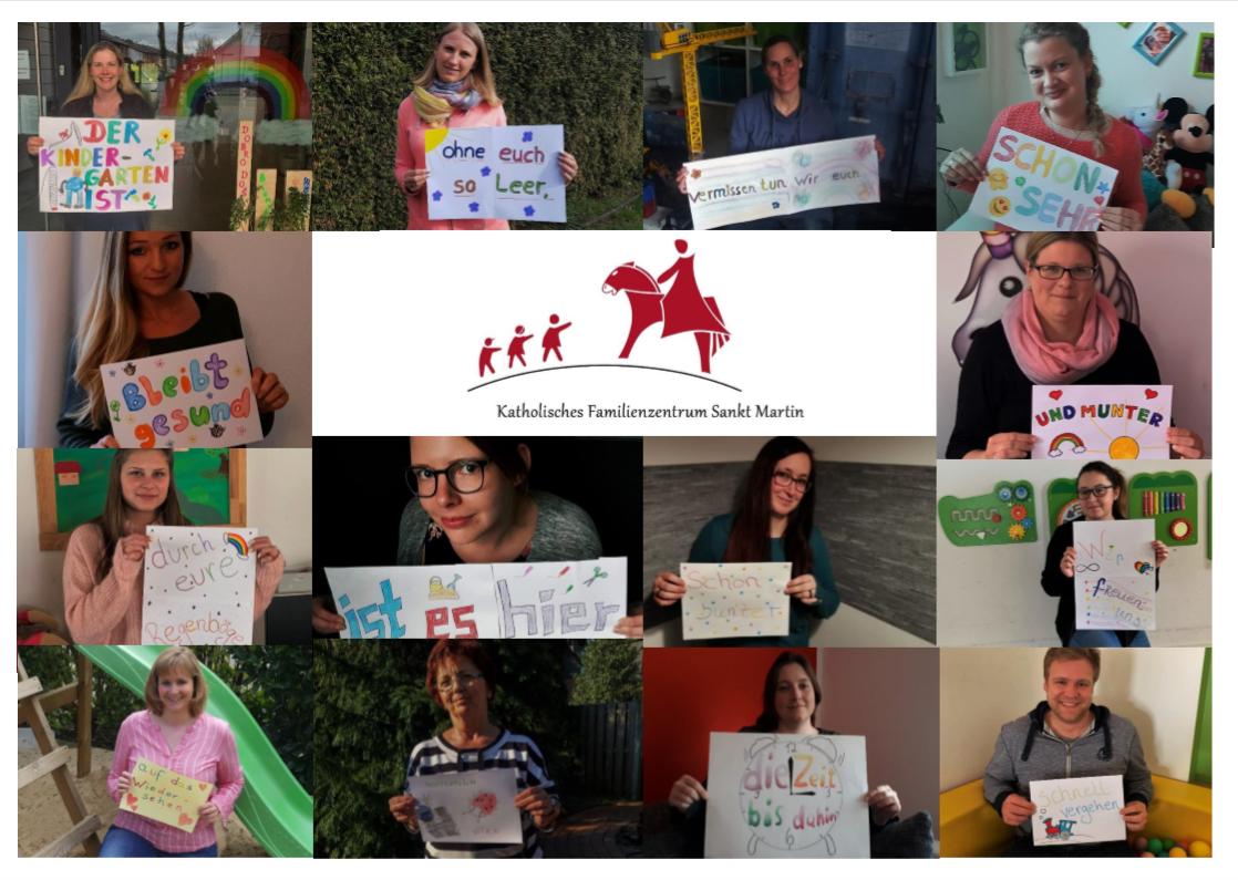 Grüße vom Kindergarten-Team St. Martin in Recklinghausen an die Kinder in der Corona-Krise
