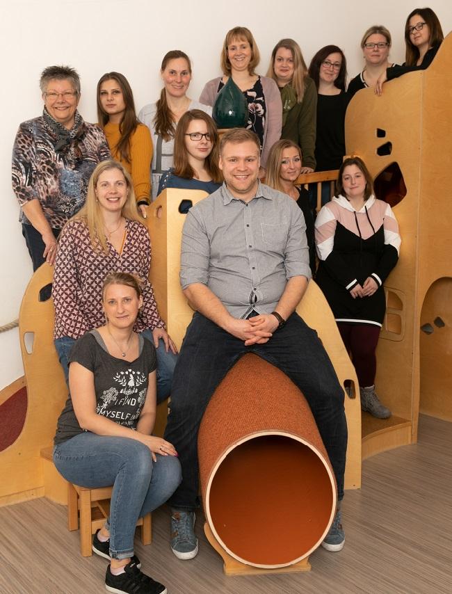 Teamfoto des Kindergarten St. Martin in Recklinghausen aus 2020