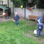 Luftballonfußball
