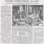 Musikgruppe in Recklinghäuser Zeitung